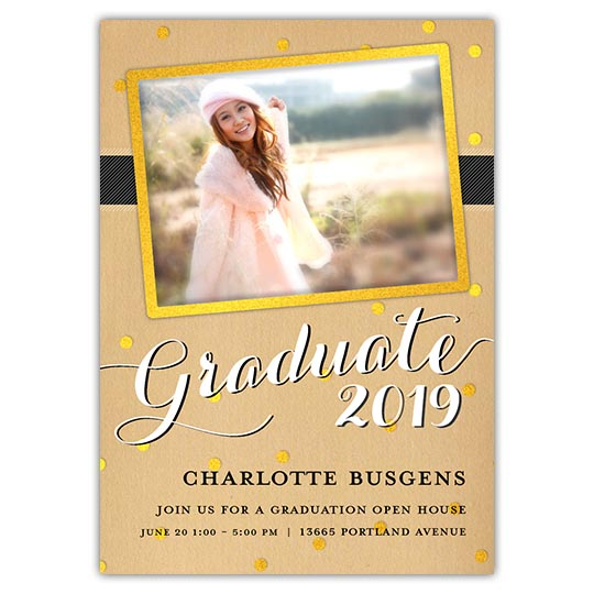 Craft Glitter - Focus in Pix Graduation Card