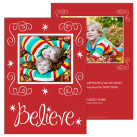 Believe 5x7 2 Sided Focus in Pix Holiday Card