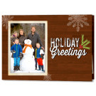 Focus in Pix Dark Wood 7x5 Holiday Christmas Fold Card