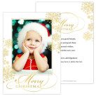 Elegant Snowflakes Holiday Christmas Card