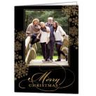 Elegant Snowflakes Focus in Pix Holiday Card