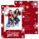 Flakes Flurry Holiday Christmas Card