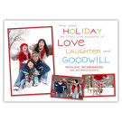 Love and Laughter, 7x5 Holiday Card