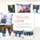 Love and Laughter, 7x5 2-Sided Holiday Card