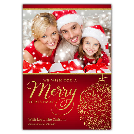 Focus in Pix 5x7 Holiday Christmas Card