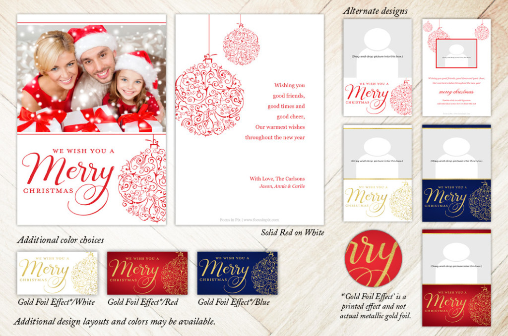 Focus in Pix 5x7 2-Sided Holiday Christmas Card