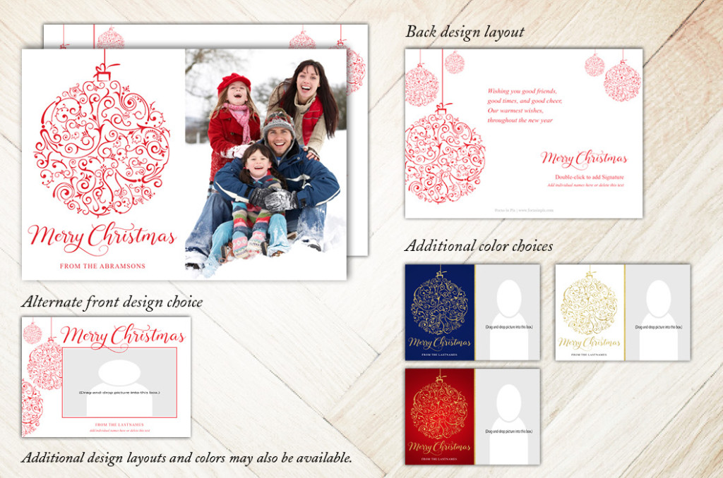 Focus in Pix 7x5 2-Sided Holiday Christmas Card