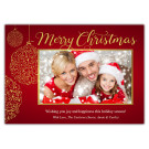 Focus in Pix 7x5 Holiday Christmas Card