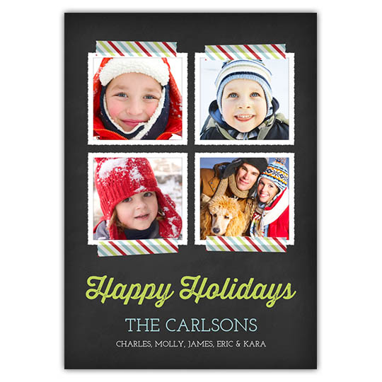 Tape and Texture Holiday Christmas Card
