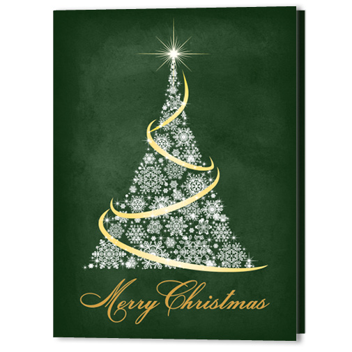 Twinkled Texture 5x7 Holiday Christmas Card