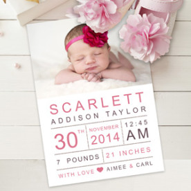 Create custom Baby Announcements with Focus in Pix free software