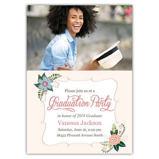 Flowery Botanic - Focus in Pix Graduation Card