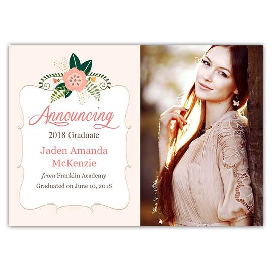 Flowery Botanic - Focus in Pix Graduation Card