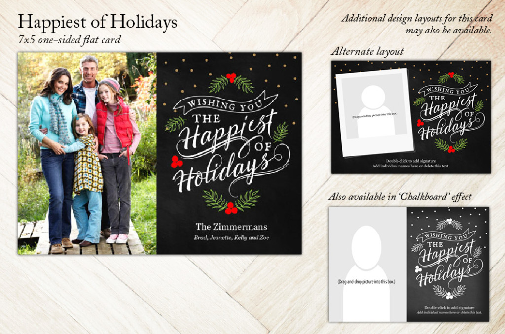 Happiest of Holidays Holiday Christmas Card