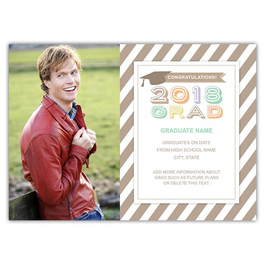 Bold Pastel Grad - Focus in Pix Graduation Card