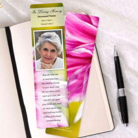 Focus in Pix Custom Memorial Bookmark