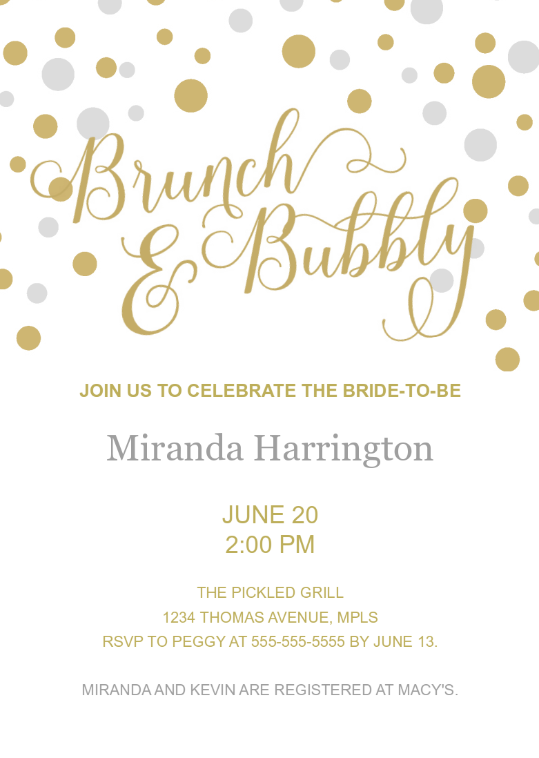 Brunch & Bubbly (Gold and Silver)
