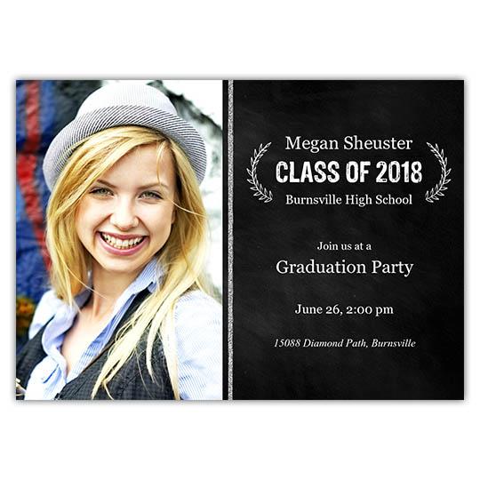 Chalk Laurels - Focus in Pix Graduation Card