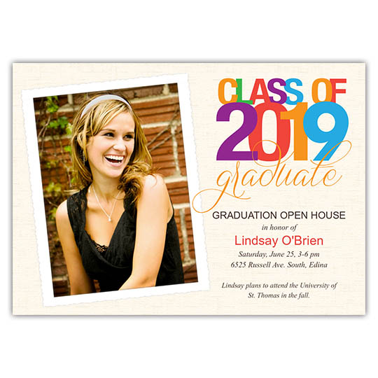 Colorful Bright - Focus in Pix Graduation Card