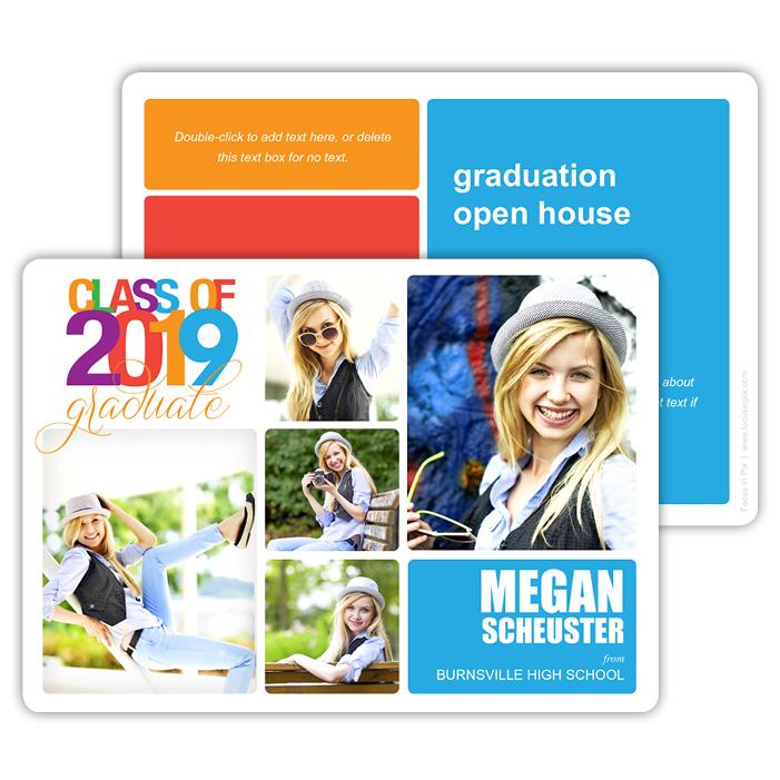 Modular Bold - Focus in Pix Graduation Card