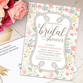 Create custom Bridal Shower Invitations with Focus in Pix free software