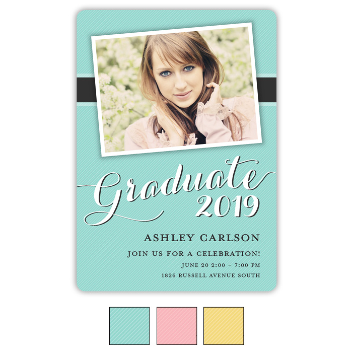 Beach Pinstripes - Focus in Pix Graduation Card