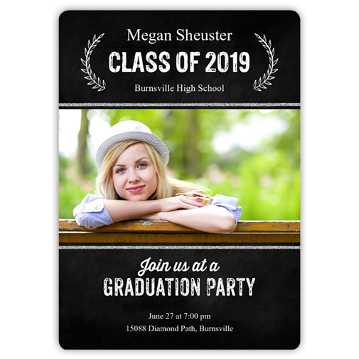 Chalk Laurels - Focus in Pix Graduation Card