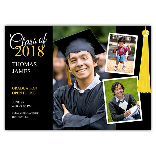 Tassel Collage - Focus in Pix Graduation Card
