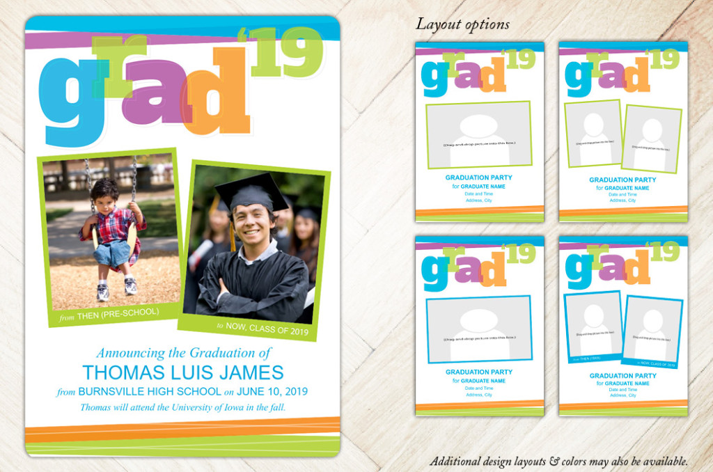 Big Bold Graduation Invitations and Announcement Cards