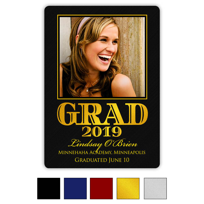 Bold Glitter- Focus in Pix Graduation Card