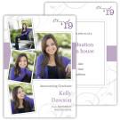 Fleur with Stripe - Focus in Pix Graduation Card