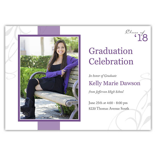 Fleur with Stripe - Focus in Pix Graduation Card
