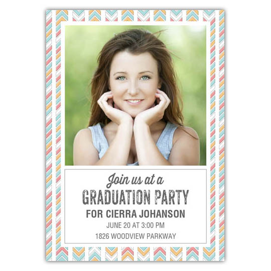 Modern Quills- Focus in Pix Graduation Card