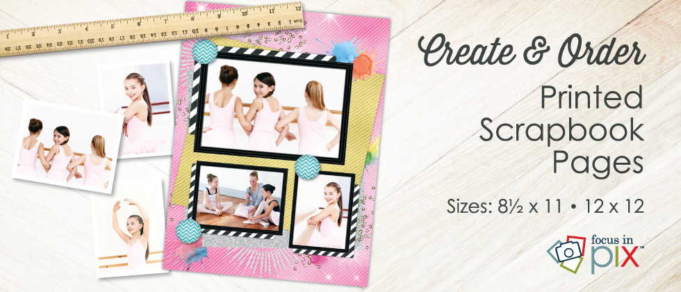 Create and order printed Scrapbook Pages and Memory Book Pages!