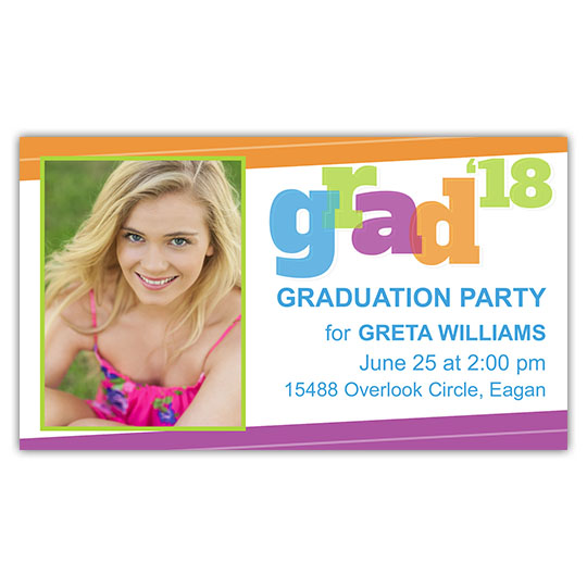 Big Bold Grad - Focus in Pix Mini Card