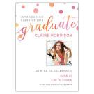 Bubbly Script- Focus in Pix Graduation Card