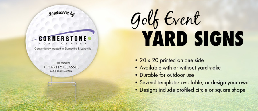 Focus in Pix Golf Yard Signs