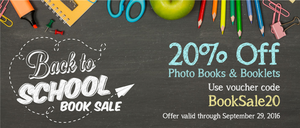 Focus in Pix | 20% Off Photo Books and Booklets | Back to School Book Sale