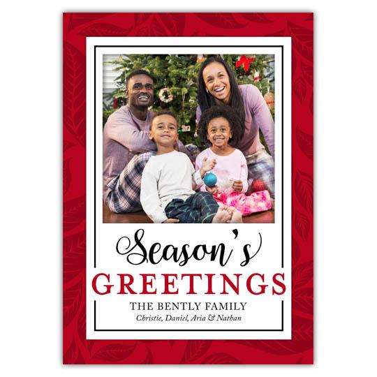 Holiday Leaves Holiday Christmas Card