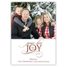 Peace Love Joy Embellish Holiday Christmas Card