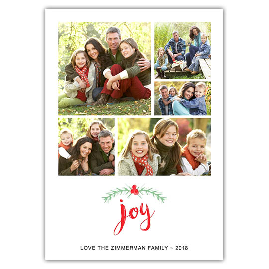Brushed Joy Holiday Christmas Card