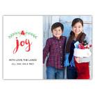 Brushed Joy Holiday Christmas Card