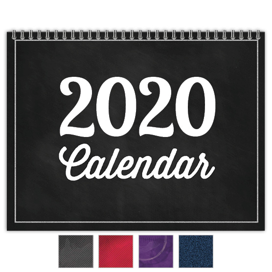 Focus in Pix 'Chalkboard' customizable monthly calendar