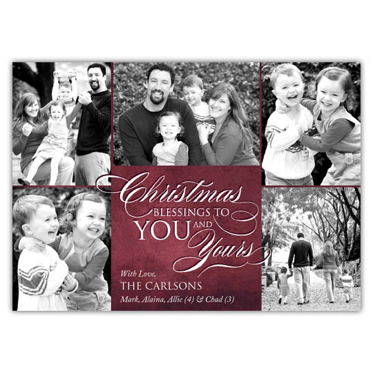 Christmas Blessings Holiday Christmas Card