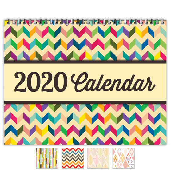 Focus in Pix 'Geometric Chevron' calendar