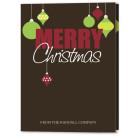 Mod Ornaments Holiday Christmas Card