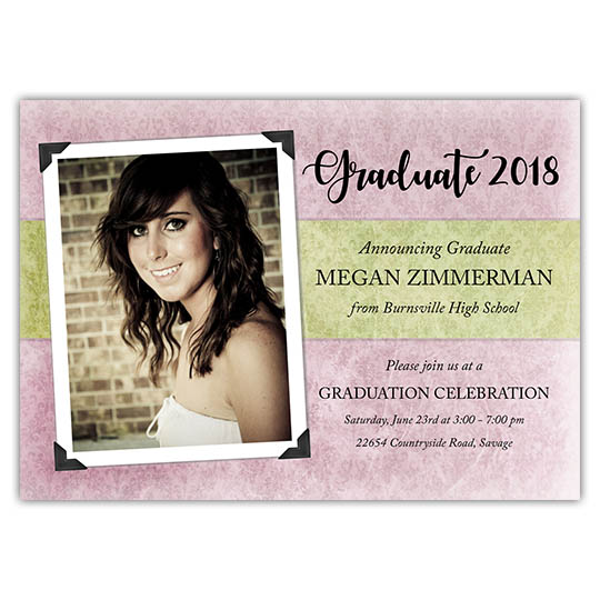 Vintage Textures - Focus in Pix Graduation Card