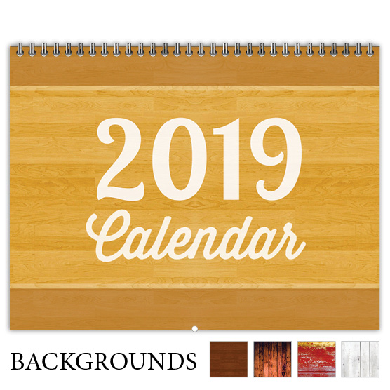 Focus in Pix 'Warm Woodgrain' calendar