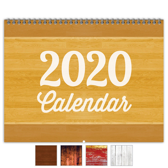 Focus in Pix 'Warm Woodgrain' calendar