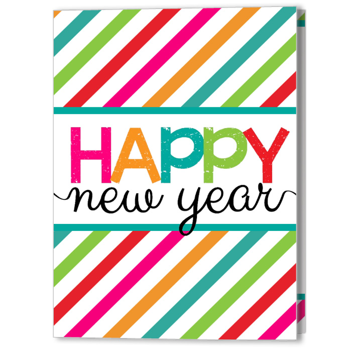 Cheery New Year 5x7 Fold Card